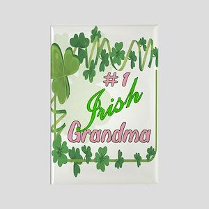 #1 IRISH GRANDMA Rectangle Magnet