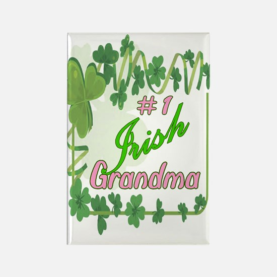 #1 IRISH GRANDMA Rectangle Magnet