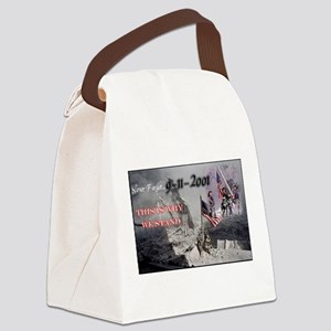 never forget 911 Canvas Lunch Bag