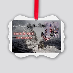 never forget 911 Picture Ornament