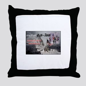 never forget 911 Throw Pillow