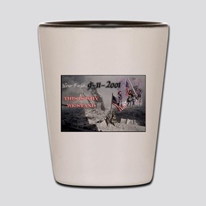 never forget 911 Shot Glass