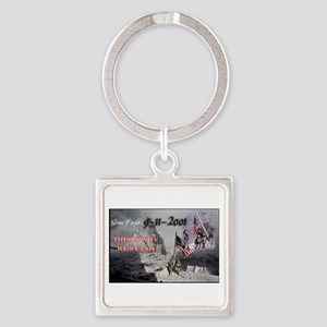 never forget 911 Keychains