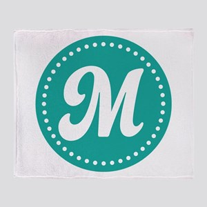 Letter M Throw Blanket