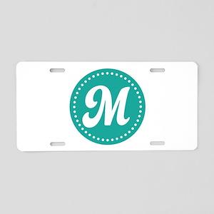Letter M Aluminum License Plate