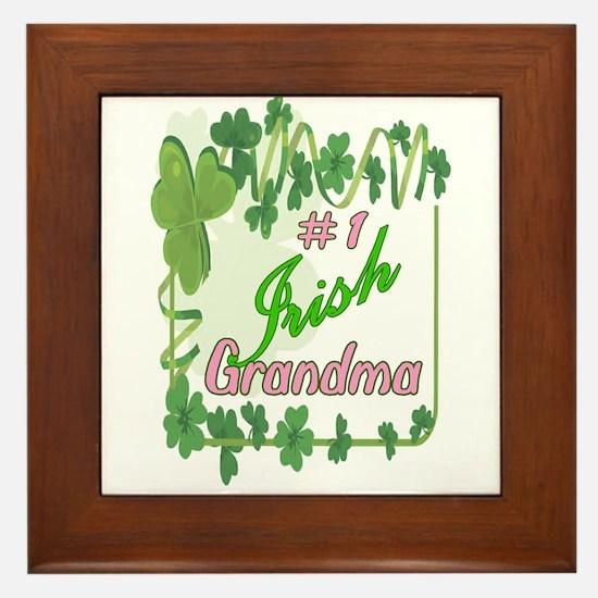 #1 IRISH GRANDMA Framed Tile