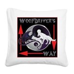 WooFDriver's Way Square Canvas Pillow