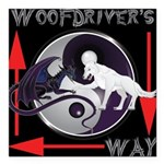 WooFDriver's Way Square Car Magnet 3