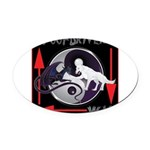 WooFDriver's Way Oval Car Magnet