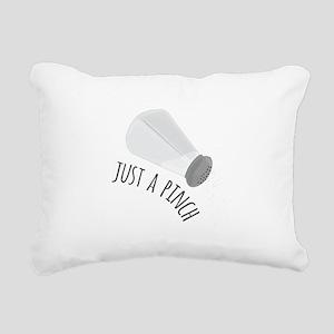 Just A Pinch Rectangular Canvas Pillow
