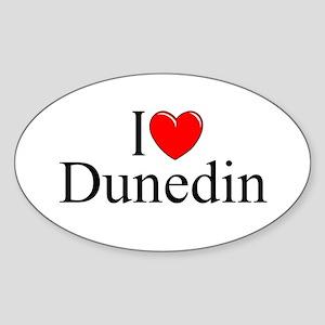 """""""I Love Dunedin"""" Oval Sticker"""