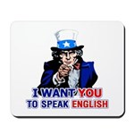 Speak English Mousepad
