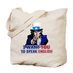 Speak English Tote Bag