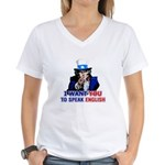 Speak English Women's V-Neck T-Shirt
