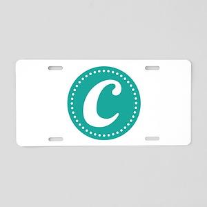 Letter C Aluminum License Plate
