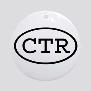 CTR Oval Ornament (Round)