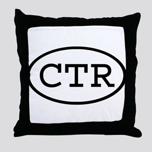 CTR Oval Throw Pillow
