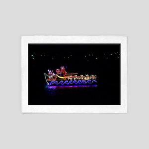 Christmas Ship 5'x7'Area Rug