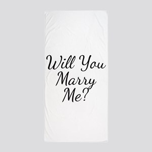 Will You Marry Me? Beach Towel
