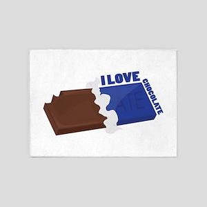 I Love Chocolate 5'x7'Area Rug