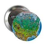 "USA Cartoon Map 2.25"" Button (10 pack)"