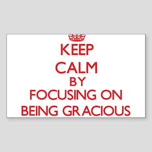 Being Gracious Sticker