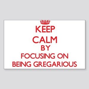 Being Gregarious Sticker