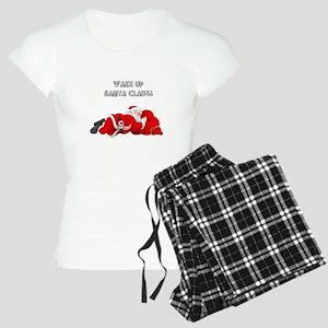 """christmas """"Wake Up, Santa Women's Light Pajamas"""