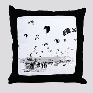 Kite Surfing Throw Pillow