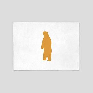 Brown Standing Bear 5'x7'Area Rug
