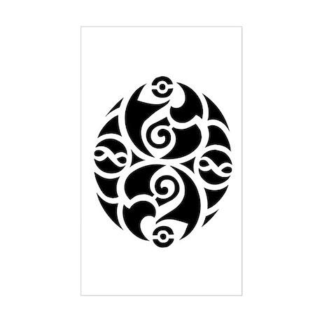 Celtic Oval Deisgn Rectangle Sticker