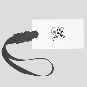 Play To Win Luggage Tag