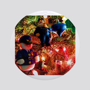 Officers Christmas Round Ornament