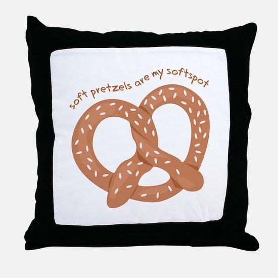 Soft Pretzels Throw Pillow
