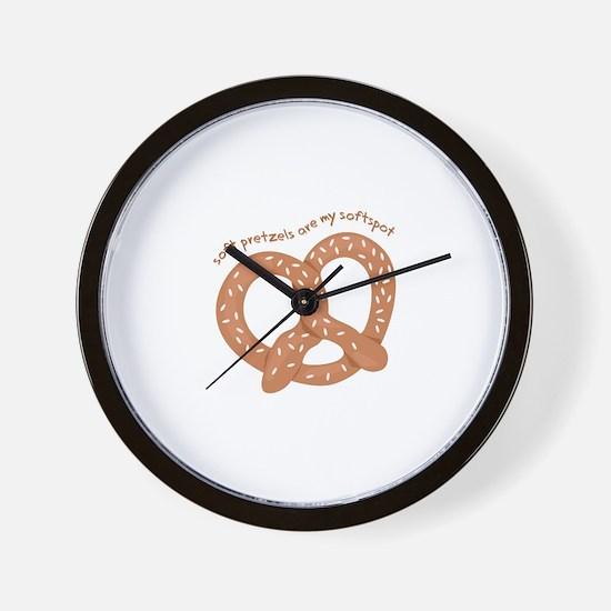 Soft Pretzels Wall Clock