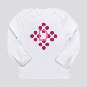 Cute Thank You Monogram Long Sleeve Infant T-Shirt