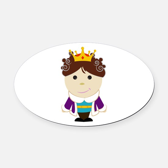Little Prince Oval Car Magnet