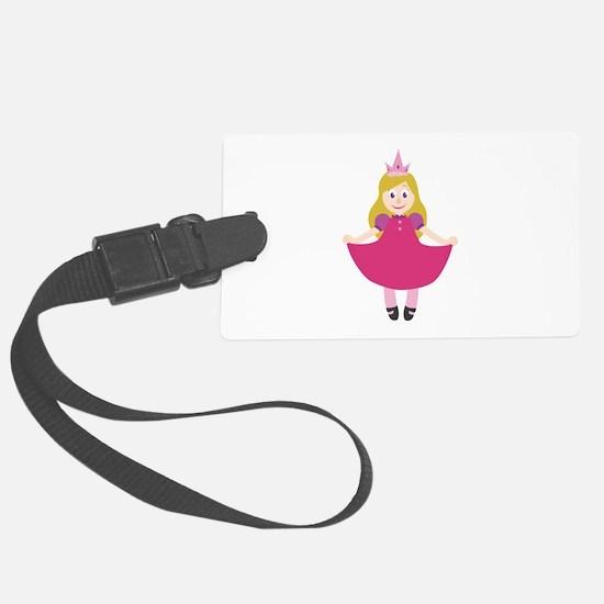Princess Girl Luggage Tag