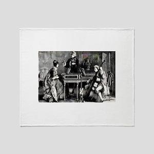 ChamberMusicFullSimpCB1 Throw Blanket