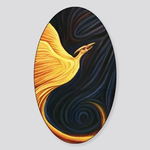 Phoenix Rising Sticker (Oval)