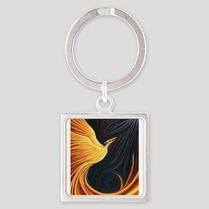 Phoenix Rising Square Keychain