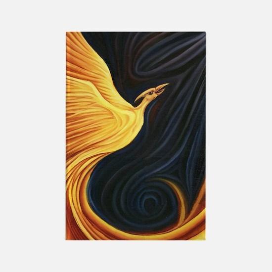 Phoenix Rising Rectangle Magnet