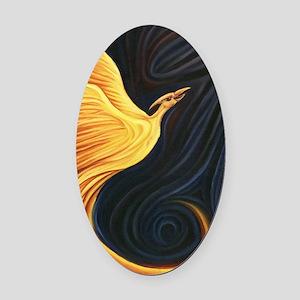 Phoenix Rising Oval Car Magnet