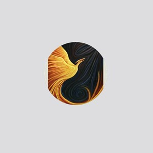 Phoenix Rising Mini Button