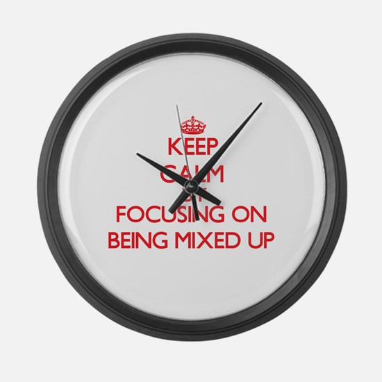 Being Mixed Up Large Wall Clock