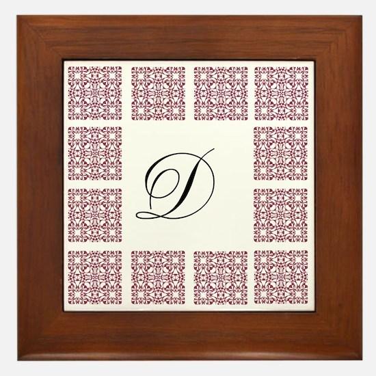 Giving Thanks Monogram Framed Tile