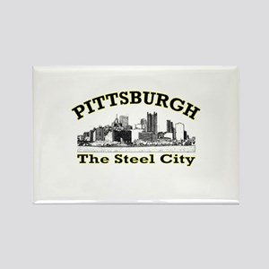 Pittsburgh . . . The Steel Ci Rectangle Magnet