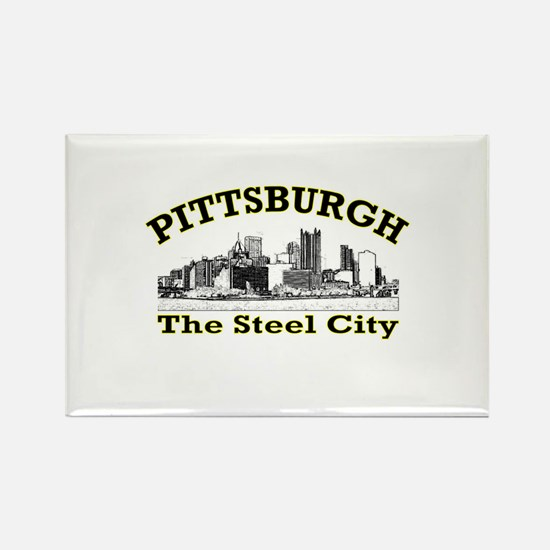 Pittsburgh . . . The Steel Ci Rectangle Magnet (10