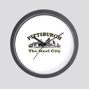 Pittsburgh . . . The Steel Ci Wall Clock