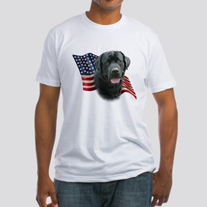 Black Lab Flag Fitted T-Shirt